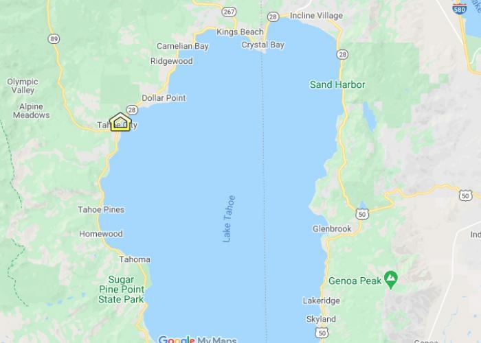 North Lake Tahoe Area Map